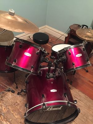 Pearl drum set with zildjan cymbals for Sale in St. Louis, MO
