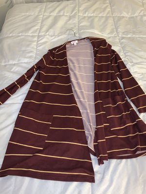 Burgundy and yellow long cardigan for Sale in Perris, CA