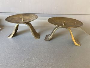 Vintage Brass Candle Holders Mid Century Modern for Sale in Tacoma, WA