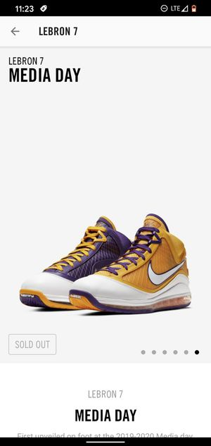 Size 10.5 lebron Media day 7 DS for Sale in Fresno, CA