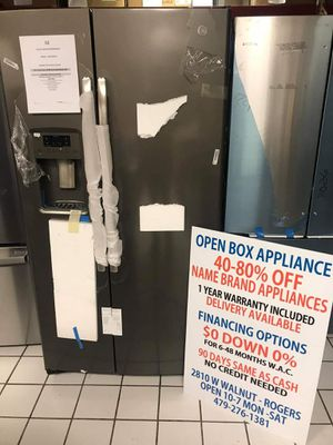 GE 25.4 CU FT SIDE BY SIDE REFRIGERATOR for Sale in Rogers, AR