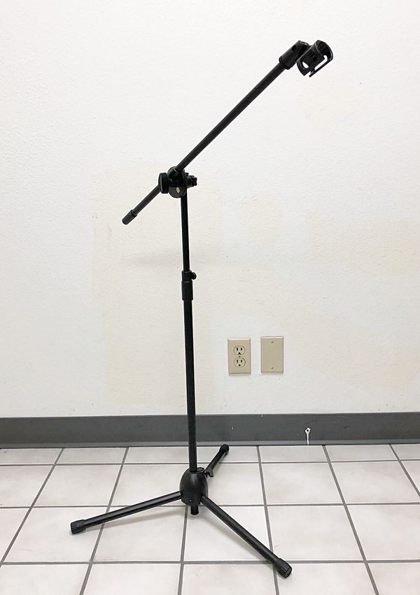 New $13 Microphone Boom Stand Mic Clip Holder Studio Arm Adjustable Foldable Tripod