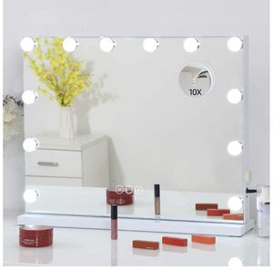 FENCHILIN Large Vanity Mirror with Lights Hollywood Lighted Makeup Mirror with 12 Dimmable LED Bulbs for Dressing Room & Bedroom Tabletop or Wall-Mou for Sale in Arlington, TX