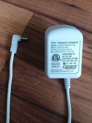 Toy Transformer AC Adapter Power Supply 4.5V DC 300mA HKYF02-045030T-US 4006301. for Sale in Adelphi, MD