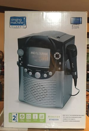 singing machine classic   karaoke   STVG559 for Sale in Tacoma, WA