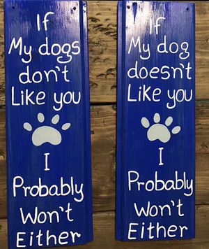 If my dogs don't like you I probably won't either sign for Sale in Durham, NC