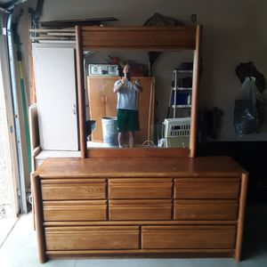 Dresser...solid wood..9 drawers with detachable mirror for Sale in Surprise, AZ