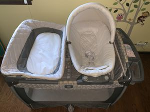 Kalani crib, Graco click connect car seat, stroller, mobile for Sale in Highland Park, IL