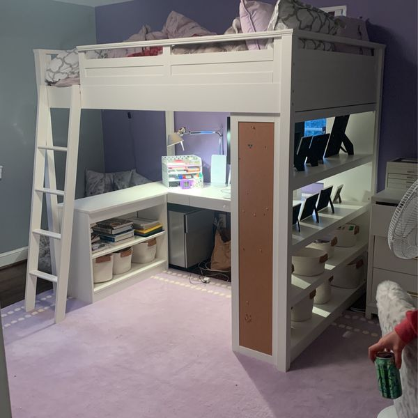 Pottery Barn Loft Bed/Desk GREAT CONDITION