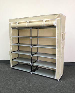 "Brand New $25 each 6-Tiers 36 Shoe Rack Closet Fabric Cover Portable Storage Organizer Cabinet 43x12x43"" for Sale in Pico Rivera, CA"