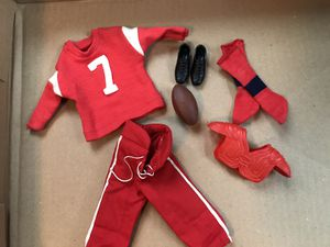 Vintage Barbie Ken football outfit excellent condition for Sale in Lockport, IL