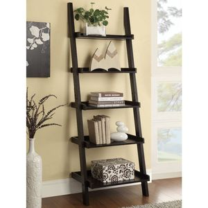 Transitional Cappuccino Leaning Ladder Bookcase 800338 for Sale in Missouri City, TX