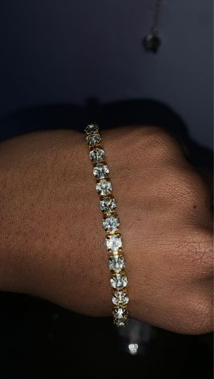 Iced out bracelet for Sale in Groton, CT