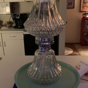 """VTG Lamplight Farms Glass Oil Table Lamp 13"""" With Shade Made Austria for Sale in Wyoming, MI"""