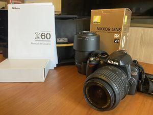 Nikon Bundle: D60 Body, 18-55mm Lens & 55-200mm Lens for Sale in Portland, OR