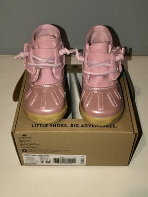 New Sperry Baby Girl Icestorm Pink Crib Shoes 3M for Sale in San Jacinto, CA