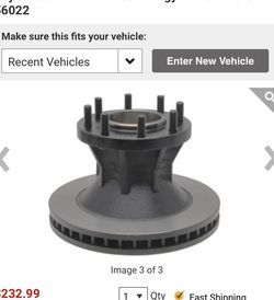 56022 Brake Rotor For VEHICLES Chevrolet P301983-1994 Front GMC P35001985-1994 Front for Sale in Concord,  NC