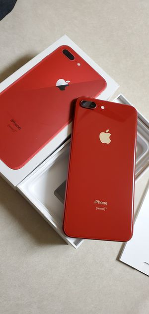iPhone 8 Plus 256gb factory unlocked product Red for Sale in Stockton, CA