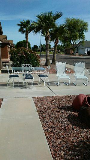 Vintage 60s wrought iron 7 piece patio set for Sale in Sun City, AZ