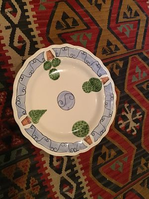 "Hand Painted Portuguese 14"" Ceramic Platter for Sale in Washington, DC"