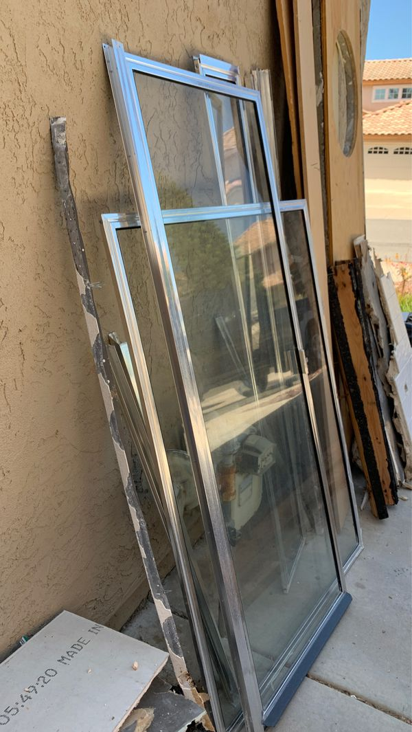 Glass shower door and wall standard size FREE