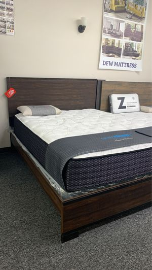 (JUST $54 DOWN) Brand New Rustic Queen Bed (Financing and Delivery available) for Sale in Carrollton, TX