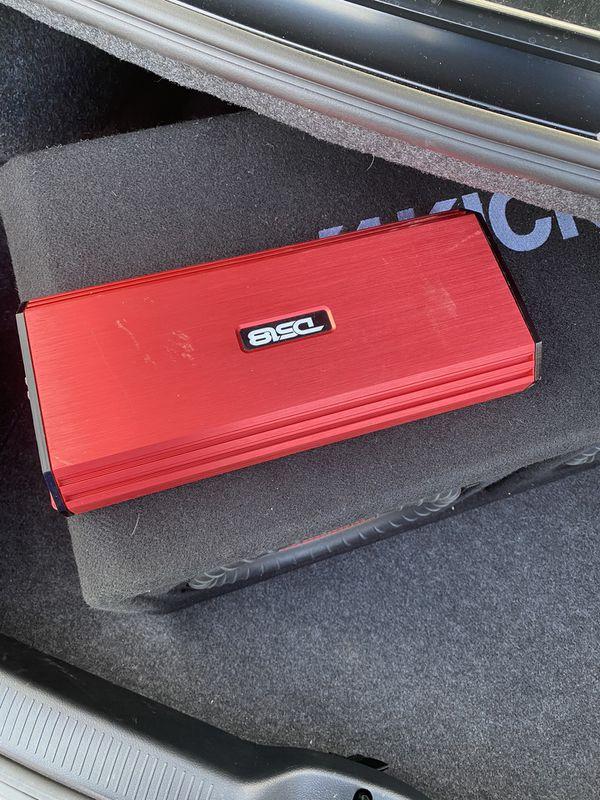 """Dual 12"""" kicker subwoofers w/ 1500 watt amplifier"""