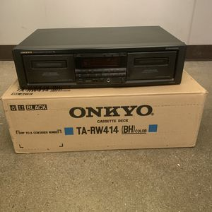 Vintage ONKYO TA-RW414 Black Stereo Dual Cassette Double Tape Deck - TESTED for Sale in Pelham, NH