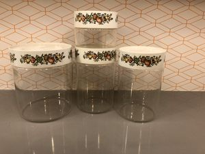 Set of four Pyrex Spice of Life Canisters See n Store for Sale in Naperville, IL