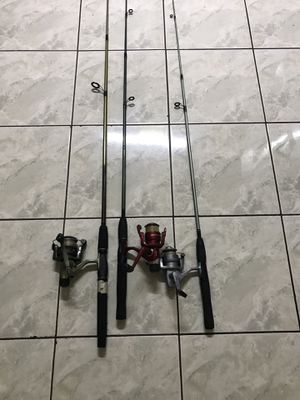3 freshwater fishing rods $40 take them all for Sale in Westminster, CA