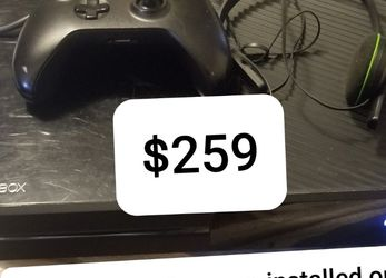 XBOX ONE. With Headset, Installed GAMES. 1 week full refund. Look at pics for details. Ships from VA. Price firm. for Sale in Charlottesville,  VA