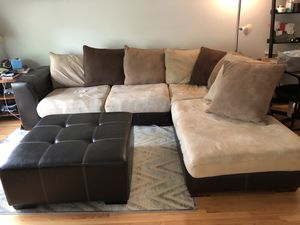 Sectional Sofa/Couch with Ottoman for Sale in Skokie, IL