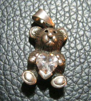 Sterling Silver Teddy Bear Charm for Sale in San Antonio, TX