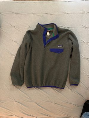 Men's Small Patagonia Fleece. Charcoal/Royal Blue for Sale in Madisonville, LA