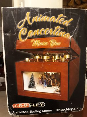 Christmas animated concertina music box &75 for Sale in Westminster, CA