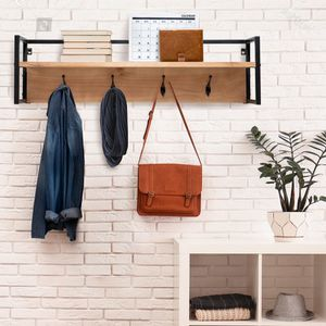 Boydton Solid Wood 4 - Hook Wall Mounted Coat Rack with Storage for Sale in South El Monte, CA