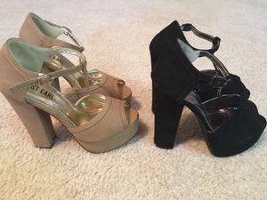 Black heels and nude heels for Sale in Las Vegas, NV