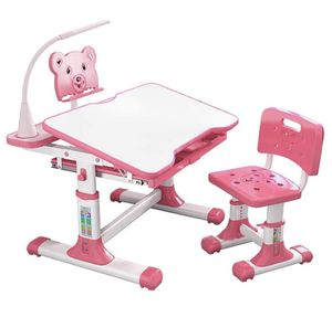 WDNMD (PINK) Kids Desk and Chair Adjustable Set LED Home School for Sale in Buckeye, AZ