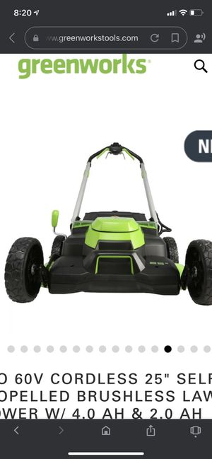 Greenworks lawn mower for Sale in Houston, TX