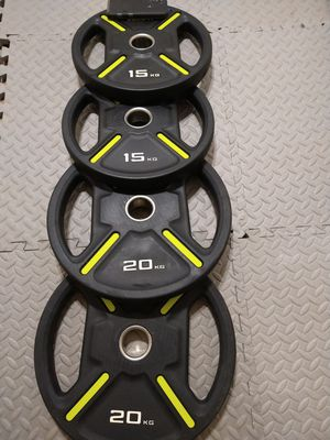 Olympic weight plates set for Sale in Sacramento, CA