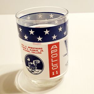 Vintage Apollo 11 Man on the Moon July 20,1969 Collectible Drinking Glass NASA. for Sale in San Jose, CA