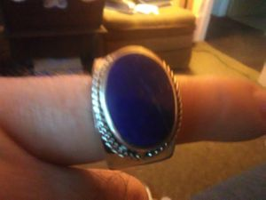 Men's Sterling silver lapis ring. for Sale in Lorain, OH