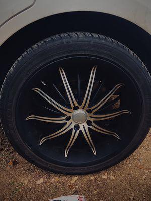 22 inch Black Akuza Rims with delinte tires 265 40r22 for Sale in Pasadena, TX