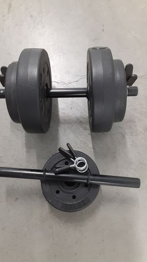 2 sets of barbells new for Sale in Garden Grove, CA