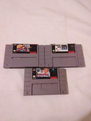🎮3 SNES Games $10🎮 Super Nintendo Entertainment System Games for Sale in Farmington, KY