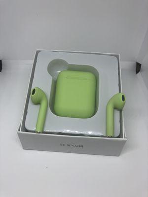 Macaron green wireless Bluetooth earphones for Sale in Vernon, CA