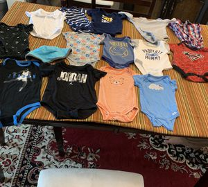 14 (0- 3 months baby boy onesies) for Sale in Centreville, VA