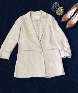MICHAEL Michael Kors Womens Boyfriend Blazer Twill Cuffed Sleeves for Sale in San Diego, CA