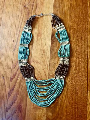 Turquoise and bronze necklace for Sale in Marion, OH