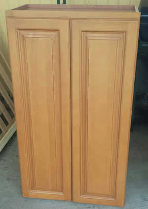Wood Wooden Closet Shelves Storage Case 23 in W by 42 in H by 12 in Depth for Sale in Glendale, CA